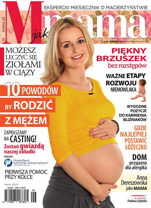 Okładka czasopisma M jak Mama nr 6 czerwiec 2016