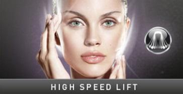 High Speed Lift, uwydatnianie konturów twarzy podczas zabiegu Endermolift