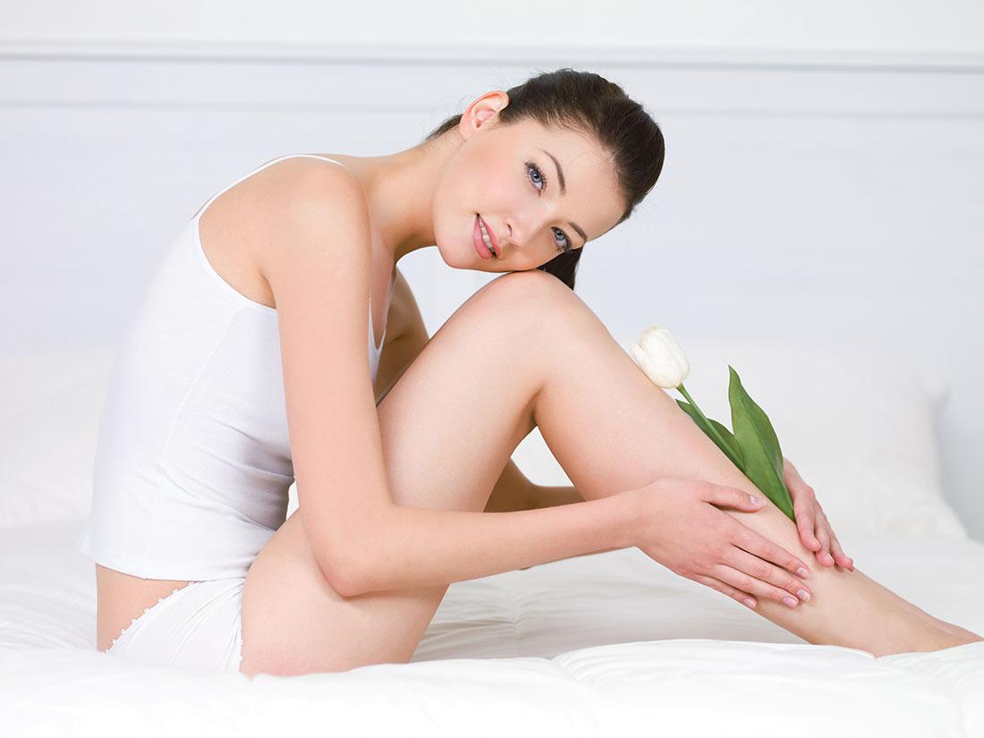 Kobieta po depilacji