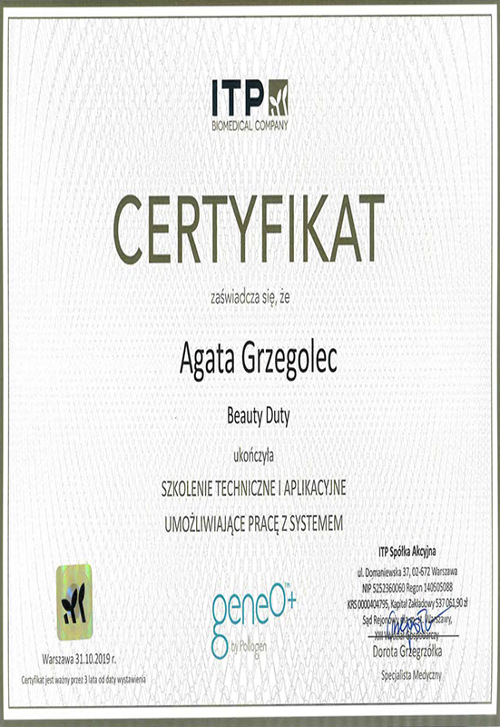 Agata Grzegolec – GeneO