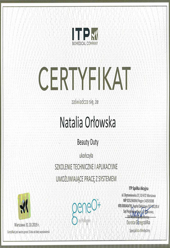 Natalia Orłowska – GeneO